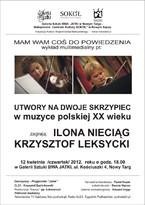 Utwory na dwoje skrzypiec w muzyce polskiej XX wieku