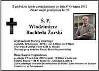 Zmarł Włodzimierz Bachleda Żarski