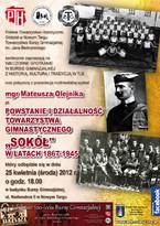 """Powstanie i działalność Towarzystwa Gimnastycznego """"Sokół"""" w latach 1867-1945"""