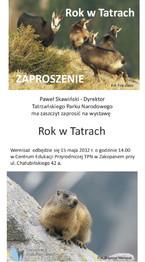 """Wystawa """"Rok w Tatrach"""""""