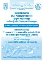 Otwarcie LXXI Międzynarodowego Spływu Kajakowego na Dunajcu im. Tadeusza Pilarskiego