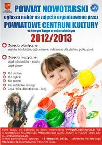 Nabór na zajęcia organizowane przez Powiatowe Centrum Kultury