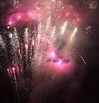 Huczne powitanie Nowego Roku