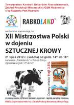 XII Mistrzostwa Polski w Dojeniu Sztucznej Krowy