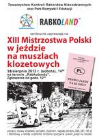XIII Mistrzostwa Polski w jeździe na muszlach klozetowych