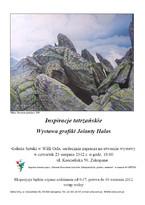Inspiracje tatrzańskie. Wystawa grafiki Jolanty Hałas