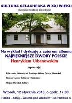 """Wykład Henryka Urbanowskiego pt. """"Kultura szlachecka w XXI wieku"""""""