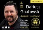 """Dariusz Gnatowski """"Szekspir, czyli Świat"""""""