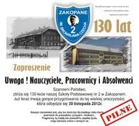 130-lecie Szkoły Podstawowej nr 2 w Zakopanem