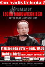 Quo vadis Polonia? - autorski koncert Lecha Makowieckiego