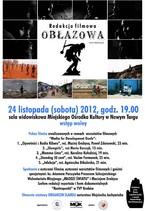 """Listopadowa Redakcja filmowa """"Obłazowa"""" zaprasza"""