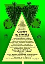 Ozdoby na choinkę – warsztaty w Muzeum Podhalańskim