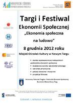 """Festiwal i Targi Ekonomii Społecznej pt. """"Ekonomia społeczna na ludowo"""""""