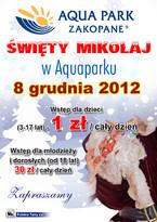 Św. Mikołaj zaprasza do Aquaparku Zakopane