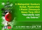 X Małopolski Konkurs Kolęd, Pastorałek i Pieśni Zimowych