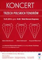 """Koncert Noworoczny pt. """"Koncert Trzech Polskich Tenorów"""""""