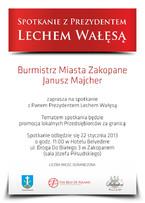 Spotkanie z Prezydentem Lechem Wałęsą