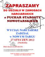 Zawody Narciarskie o Puchar Starosty Nowotarskiego