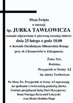 Msza Św. w intencji śp. Jerzego Tawłowicza