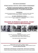 """Porucznik Jan Rodowicz pseudonim """"Anoda"""" bohater Powstania Warszawskiego"""