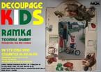 Decoupage Kids - ramka – technika shabby