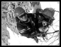 M. Berbeka poniżej obozu II (6300 m), zdjęcie A. Bielecki http://polskihimalaizmzimowy.pl/