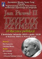 """Jan Paweł II - """"Tryptyk rzymski"""""""