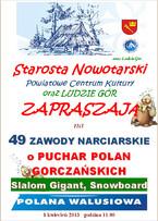 49 Zawody Narciarskie o Puchar Polan Gorczańskich