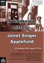 Świadkowie historii – Janet Singer Applefield