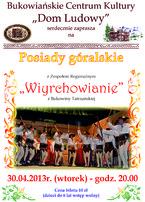 Posiady góralskie z zespołem Wirchowianie