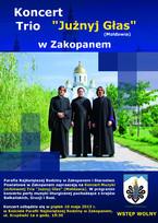 """Koncert Muzyki cerkiewnej Tria """"Jużnyj Głas"""" z Mołdawii"""