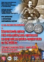Starostowie spiscy i ich rola polityczno-społeczna na pograniczu polsko-węgierskim w XV-XVIII w.