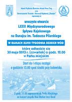 LXXII Międzynarodowy Spływ Kajakowy na Dunajcu im. Tadeusza Pilarskiego
