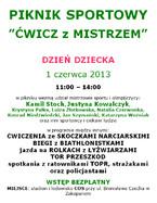 """Piknik Sportowy """"Ćwicz z Mistrzem"""""""
