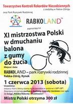XI Mistrzostwa Polski w Dmuchaniu Balona z Gumy do Żucia