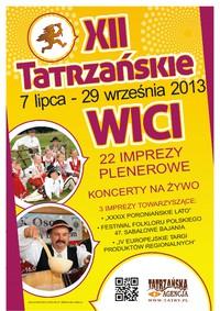 7 lipca rozpoczną się XII Tatrzańskie Wici