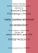 Koncert chóru polonijnego z Francji