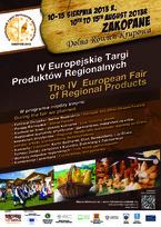 IV Europejskie Targi Produktów Regionalnych