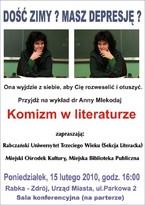 """Wykład dr Anny Mlekodaj """"Komizm w literaturze"""""""