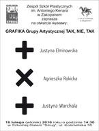 Grafika Grupy Artystycznej TAK, NIE, TAK