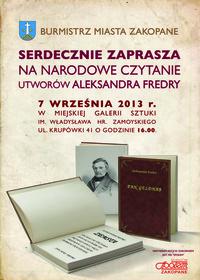 Narodowe Czytanie Utworów Aleksandra Fredry
