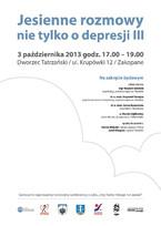 Jesienne rozmowy nie tylko o depresji III