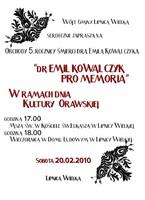 Obchody 5. rocznicy śmierci dra Emila Kowalczyka