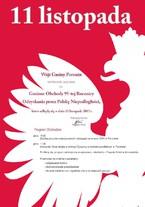 Gminne obchody 95. Rocznicy Odzyskania Niepodległości przez Polskę