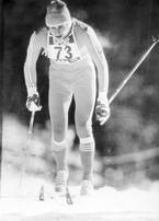 Józef Łuszczek podczas biegu na 15 km w Lahti, fot. ze zbiorów Józefa Łuszczka