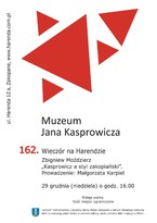 """162. Wieczór na Harendzie: Zbigniew Moździerz """"Kasprowicz a styl zakopiański""""."""