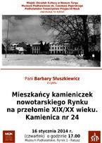 Mieszkańcy Kamieniczek Nowotarskiego Rynku. Kamienica nr 24